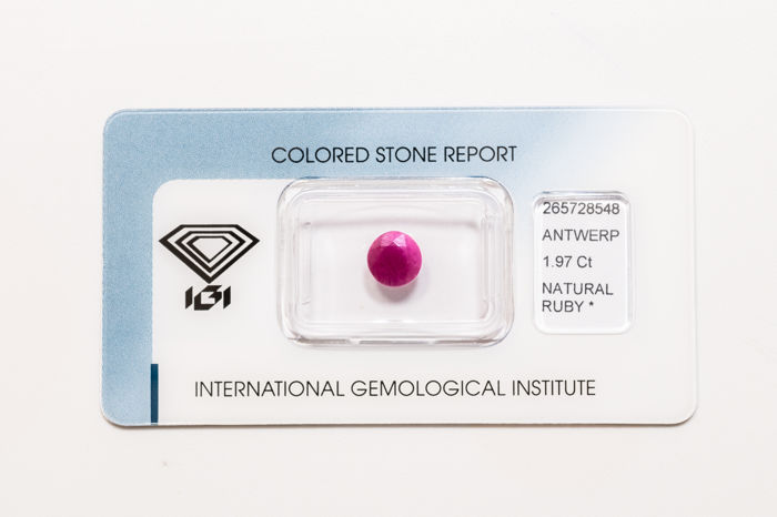 Ruby - 1.97 ct - No Reserve