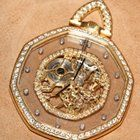 Gérald Genta – See–through pocket watch in gold and diamonds – Unisex – 1950–1959