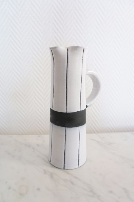 Jacques Innocenti Black And White Striped Vase Catawiki