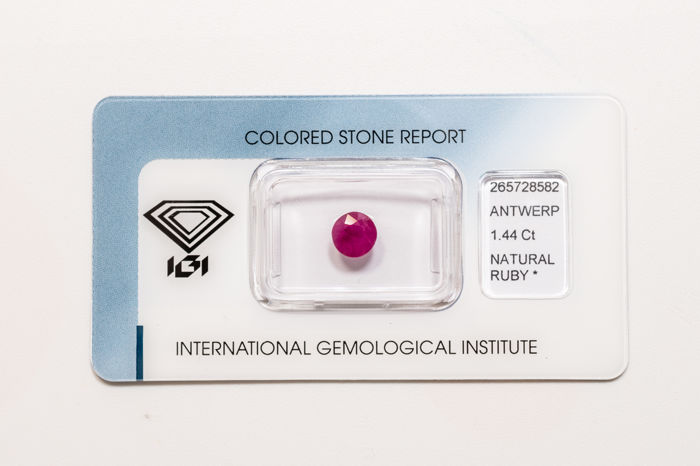 Ruby - 1.44 ct  - No Reserve