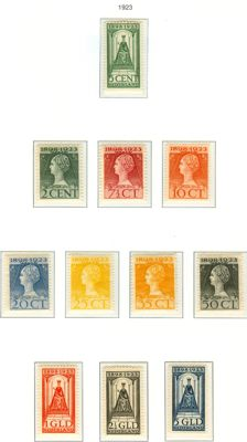 The Netherlands, 1923, anniversary of the reign, NVPH 121-131