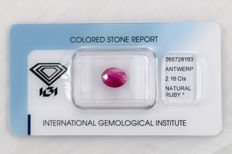 Ruby - 1.87 ct  - No Reserve