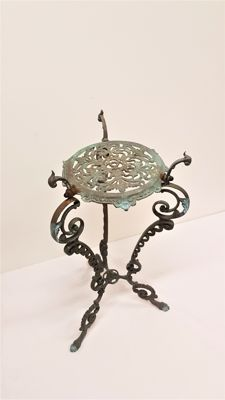 Art Nouveau cast iron side table - France - Ca. 1900