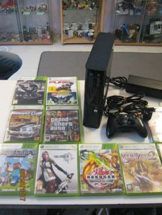 Xbox 360 super slim, 250gb including 10 games like Minecraft , final fantasy XIII ,Samurai warriors, forza 4 and more