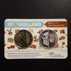 The Netherlands - Holland Coin card 2015 'Treacle Waffles' with silver medal