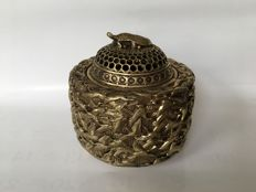 Thousand crane bronze incense burner - China - mid 20th century