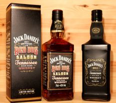2 bottles -  Jack Daniels 125th Anniversary of the Red Dog Saloon, 2017, incl. Box + Jack Daniels 2011, Birthday Edition