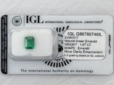 Emerald - 1.67 ct   Natural Green Emerald  ===   NO RESERVE  ===