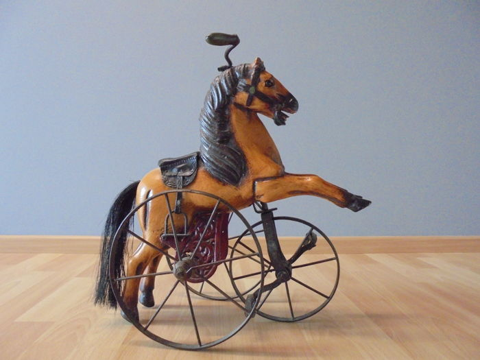 Horse bicycle in wood and iron