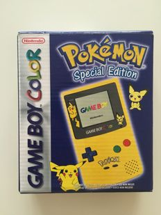 Limited Edition Nintendo Game boy Gameboy Color Pokemon Pikachu Edition Console