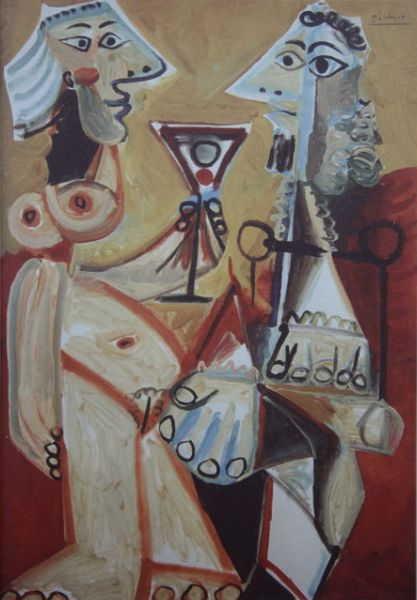 Pablo Picasso (after) - Couple drinking
