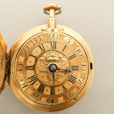 John Halsted London - a priceless and important quarter repeater verge fusée pocket watch - ca 1700