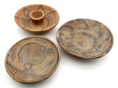 Lot of 3 Indus Valley Painted Terracotta - Bowls (3) 90x26, 83x23, 102x28 mm