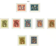 The Netherlands 1923 – Clearance issue – #NVPH 114/120 and 132/133