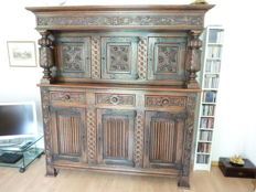 A Renaissance style oak cabinet - probably from Southern Netherlands or Belgium - late 19th/early 20th century