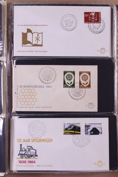 The Netherlands 1953/2005 - batch of FDCs and covers in 11 partially old albums