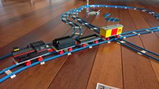 Legoland - train set with switches, intersections and many tracks - End 60s