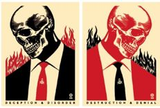 "Shepard Fairey (OBEY) - ""Deception & Disorder"" and ""Destruction & Denial"""