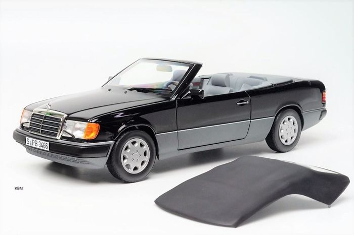Norev - Schaal 1/18 - Mercedes-Benz 300CE-24 Convertible 1992 - Black