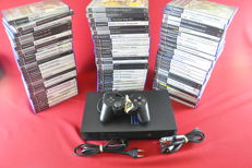 Playstation 2 console with 75 Playstation 2 games