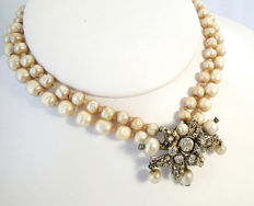 Signed DE MARIO N.Y. - Necklace  Ca. 1940s