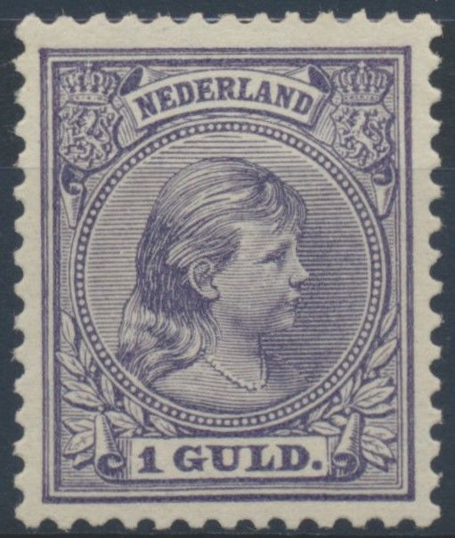 "The Netherlands 1891 – Princess Wilhelmina ""Loose hair"" – NVPH 44, with inspection certificate"