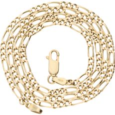 14 kt - Yellow gold Figaro link necklace - length: 59.6 cm