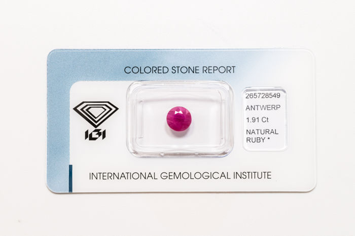 Ruby - 1.91 ct - No Reserve