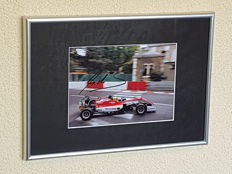 Michael Schumacher's son Mick Schumacher - Framed action photo F3 - hand signed + COA + photo of the signing session