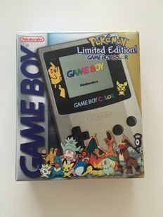 Limited Edition Nintendo Game boy Gameboy Color Pokemon Pikachu Gold Edition Console