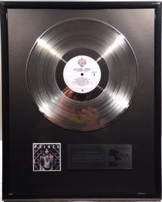 "Prince - Dirty Mind - 12"" Warner Bros. Records platinum plated record by WWA Awards"