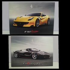 "Ferrari ""f12TDF"" and ""la Ferrari aperta"" postcards"
