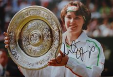 Martina Hingis Former Tennis World Number 1 Signed/ Autographed  Wimbledon Photo  with Certificate of Authenticity