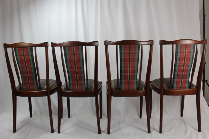 Manufacturer unknown set of four vintage dining room for Dining room furniture auctions