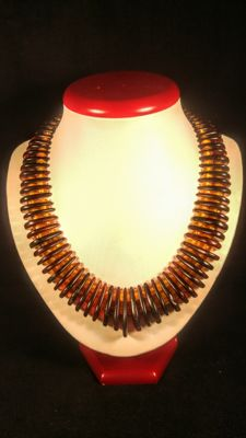 Vintage Baltic Amber necklace, length ca. 50 cm, 67 grams