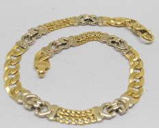 Bracelet in 18 kt white and yellow gold – Length: 18.5 cm