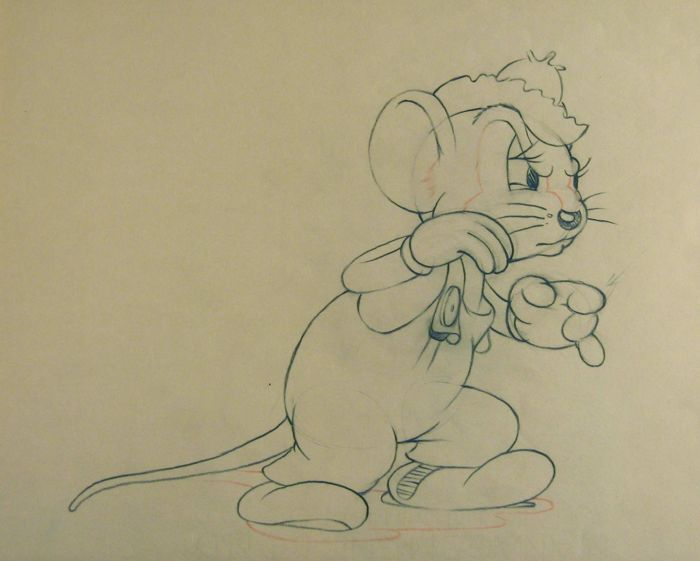 Disney Studio's - Originele productietekening - Abner Countrymouse - The Country Cousin (1936)
