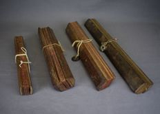 Four different Lontar manuscripts - Burma/Myanmar - 19th century