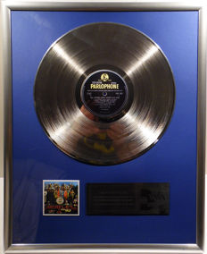 "The Beatles - Sgt. Peppers Lonely Hearts Club Band - 12"" Parlophone Record platinum plated record by WWA Awards"