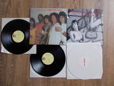 The Rolling Stones New Barbarians , Lot 2 Lp , Double Lp Live Capitol Center , Largo , Maryland May 1979 , Lp Rehearsls For THeir 79 Tour , Colored Vinyl White ,