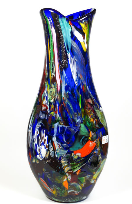 Mario Costantini Murano Big Blue Vase 53 Cm Catawiki