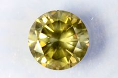 Diamond - 1.20 ct - Fancy Greenish Yellow - SI1 - No Reserve Price