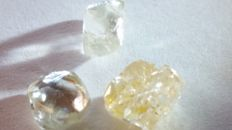 Rough Natural diamond lot - 4,00-4,50ct (3)