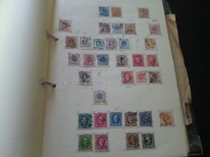 Europe - collection on home-made sheets in ringbinder