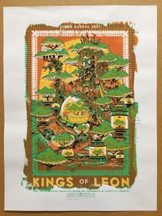 Concert Poster Kings of Leon - limited and signed by Artist Guy Burwell