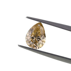 Natural Fancy Yellowish Brown 1.74 ct. Pear shape Diamond, GIA Certified.