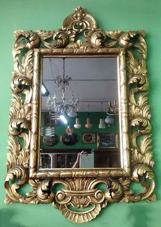 Baroque style wall mirror - Italy - 20th century