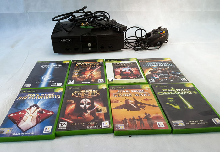 Original Xbox Game Ship : Original xbox console and star wars games bundle