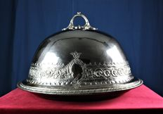 Silver plated large game dish King Edward (Sheffield stamped)
