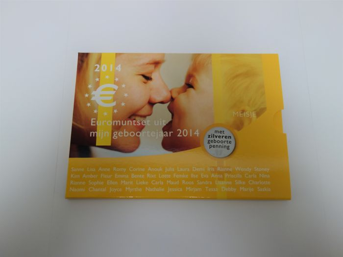 The Netherlands - Year pack 2014 ´Baby set girl silver´ with silver medal